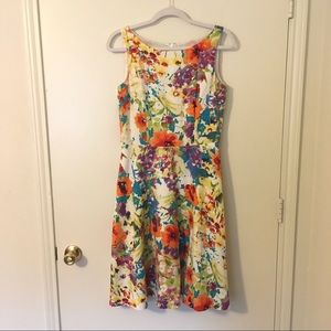 Evan Picone Floral Fit & Flare Midi Easter Dress 6
